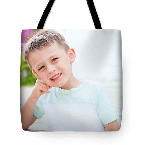 Happy Child Tote Bag by Tom Gowanlock