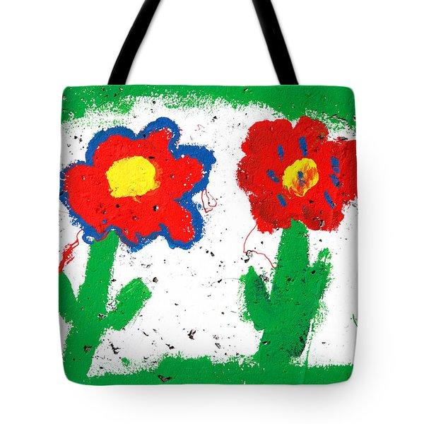 Happy Colorful Flowers Tote Bag by Gaspar Avila