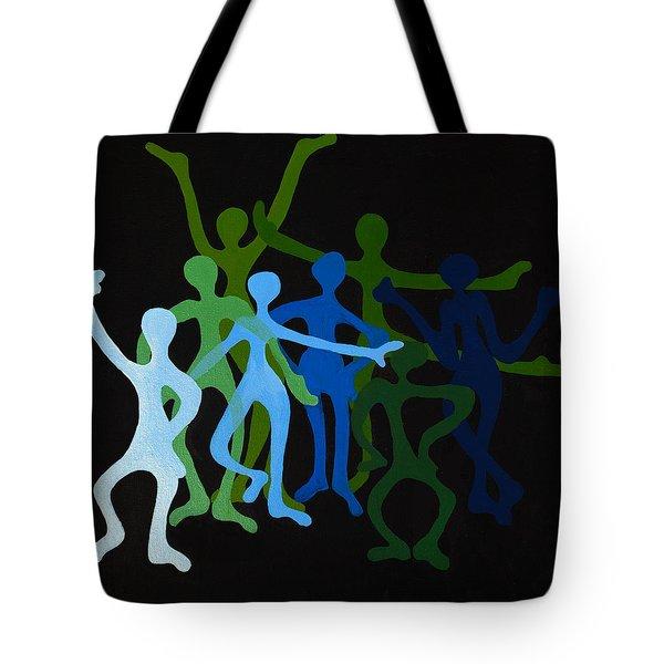 Happy Dancers Tote Bag by Michelle Wiarda