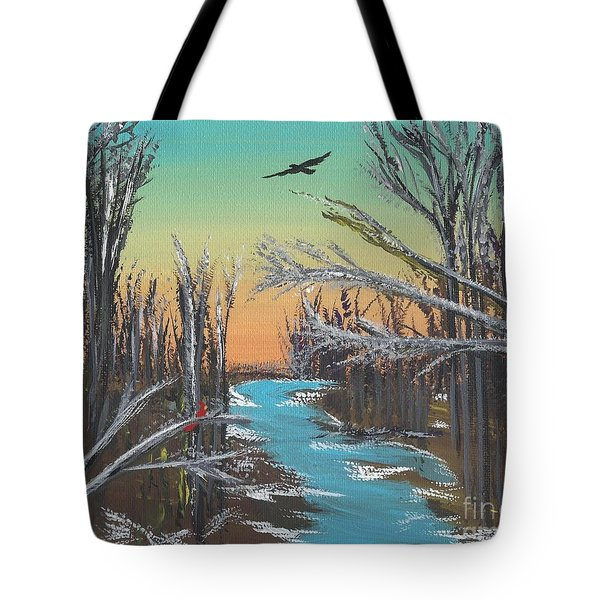 Tote Bag featuring the painting Happy Day by Alys Caviness-Gober