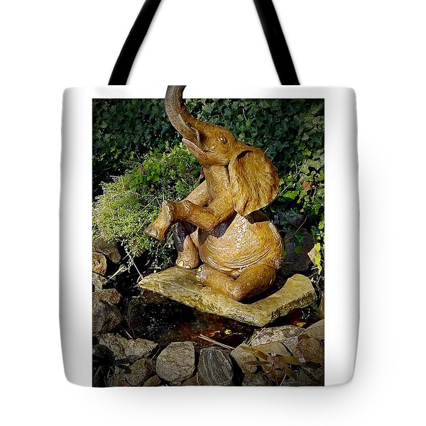 Happy Elephant Tote Bag by Brian Wallace