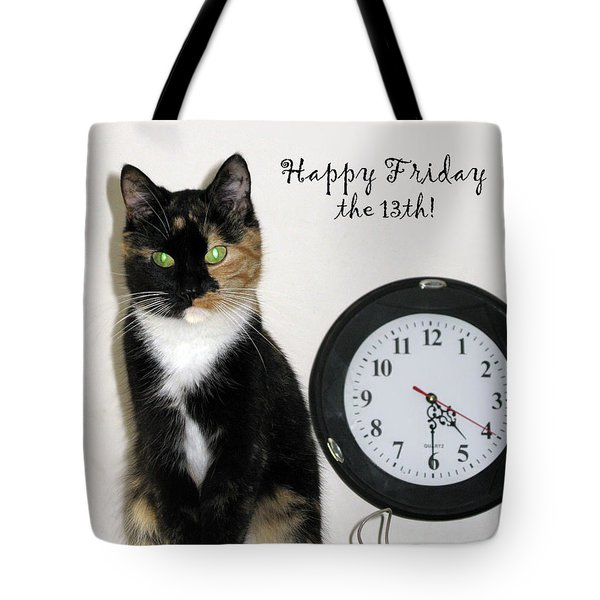 Tote Bag featuring the photograph Happy Friday The 13th by Ausra Huntington nee Paulauskaite