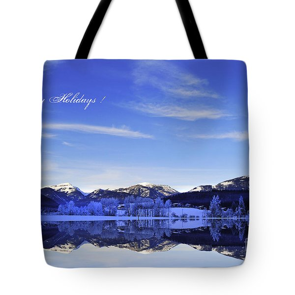 Happy Holidays Tote Bag by Sabine Jacobs