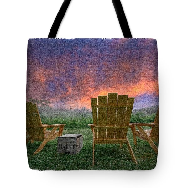 Happy Hour Tote Bag by Debra and Dave Vanderlaan