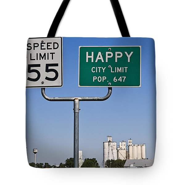 Happy Tote Bag by Melany Sarafis