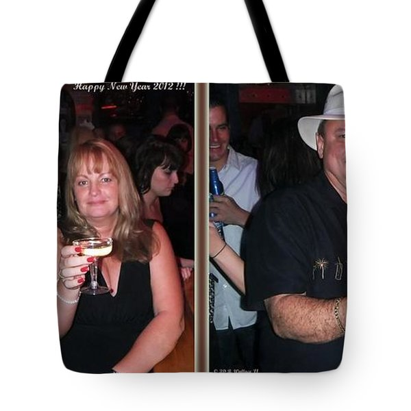 Happy New Year - Gently Cross Your Eyes And Focus On The Middle Image That Appears Tote Bag by Brian Wallace