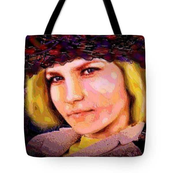 Happy Smile Tote Bag by Natalie Holland