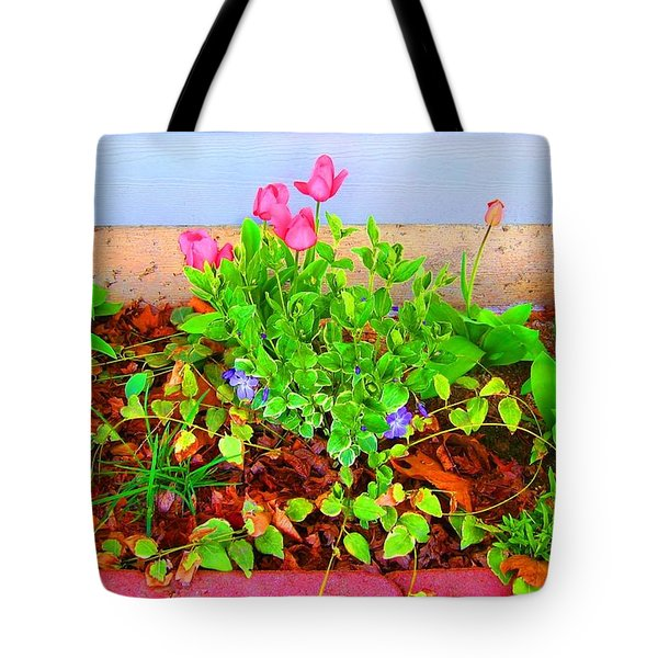 Tote Bag featuring the photograph Happy Spring by Ann Johndro-Collins