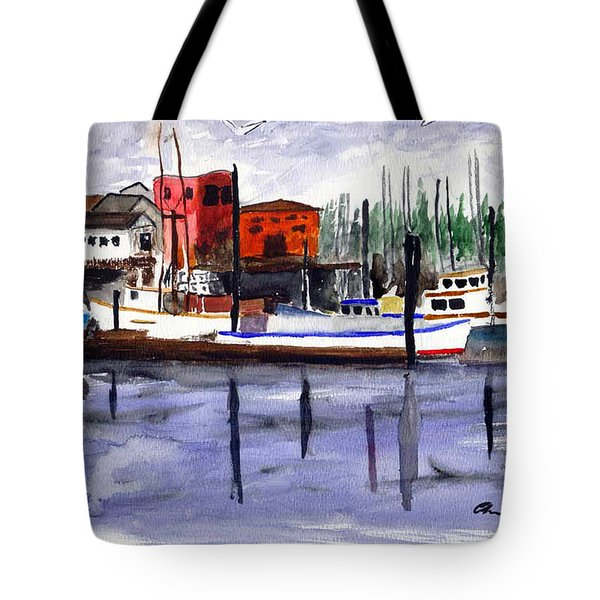 Harbor Fishing Boats Tote Bag