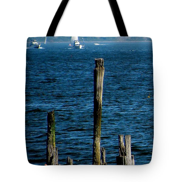 Harbor Islands  Tote Bag by Jeff Heimlich
