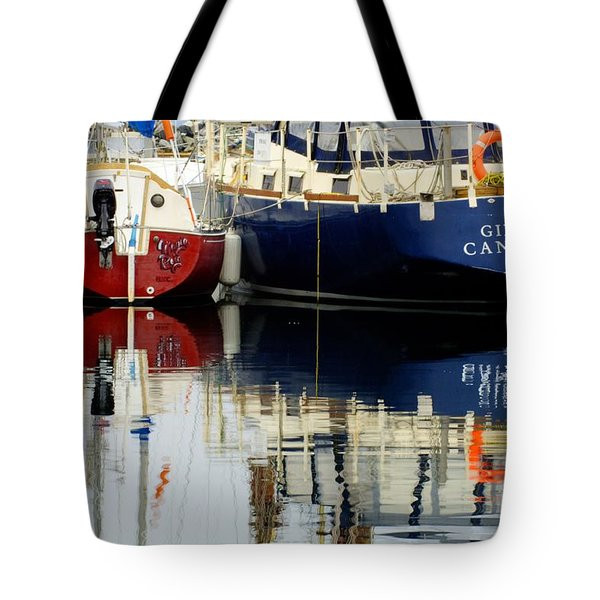 Harbor Reflections  Tote Bag by Bob Christopher