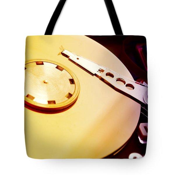 Hard Disk Detail Tote Bag