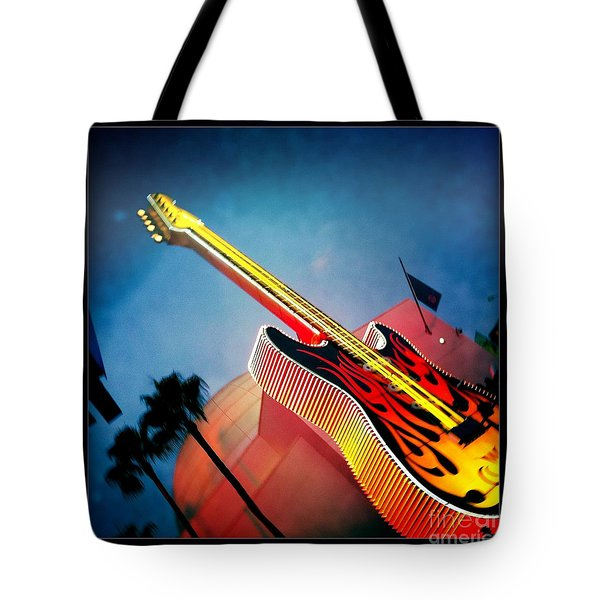 Tote Bag featuring the photograph Hard Rock Guitar by Nina Prommer