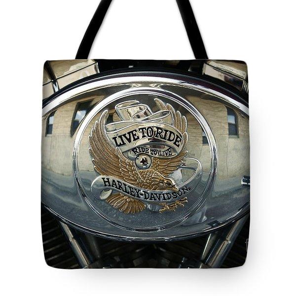 Harley Davidson Bike - Chrome Parts 44c Tote Bag