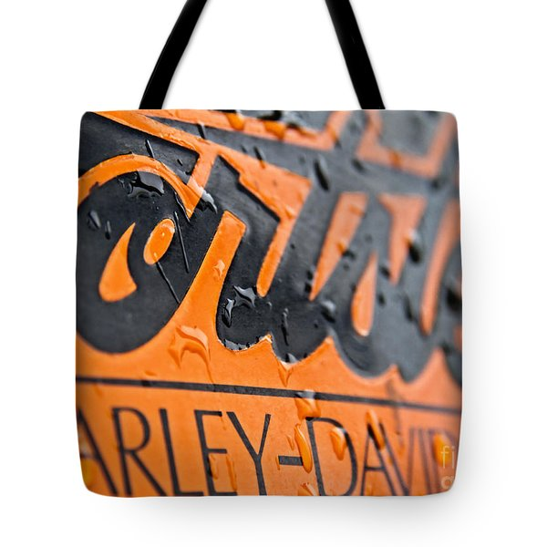 Harley Davidson Logo Tote Bag by Stelios Kleanthous