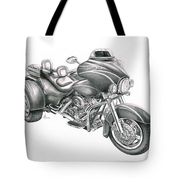 Harley Davidson Trike Tote Bag by Murphy Elliott