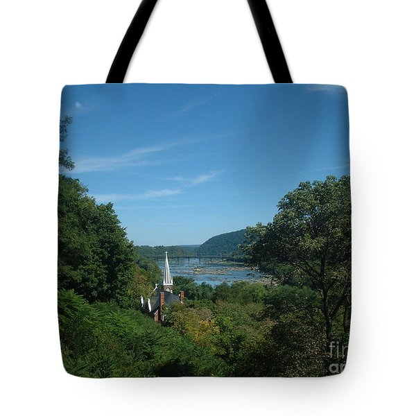 Harper's Ferry Long View Tote Bag by Mark Robbins
