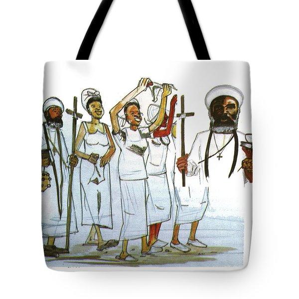 Harris And His Followers Tote Bag by Emmanuel Baliyanga