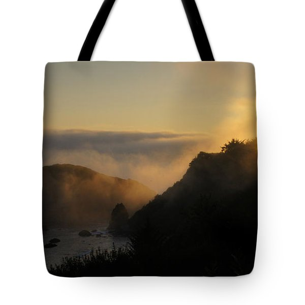 Harris Beach Sunset Panorama Tote Bag
