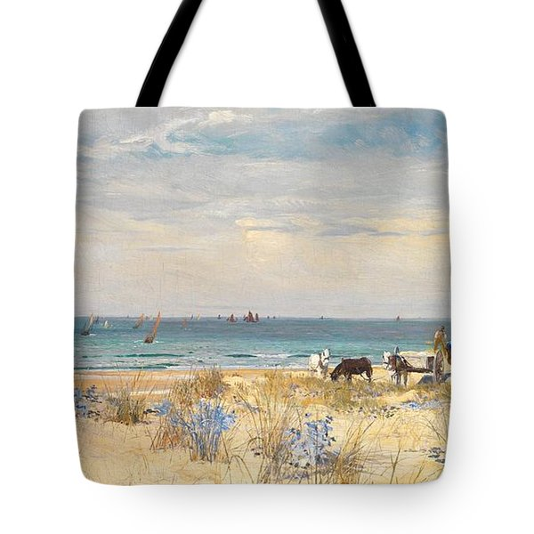 Harvesting The Land And The Sea Tote Bag by William Lionel Wyllie