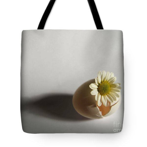 Hatching Flower Photograph Tote Bag