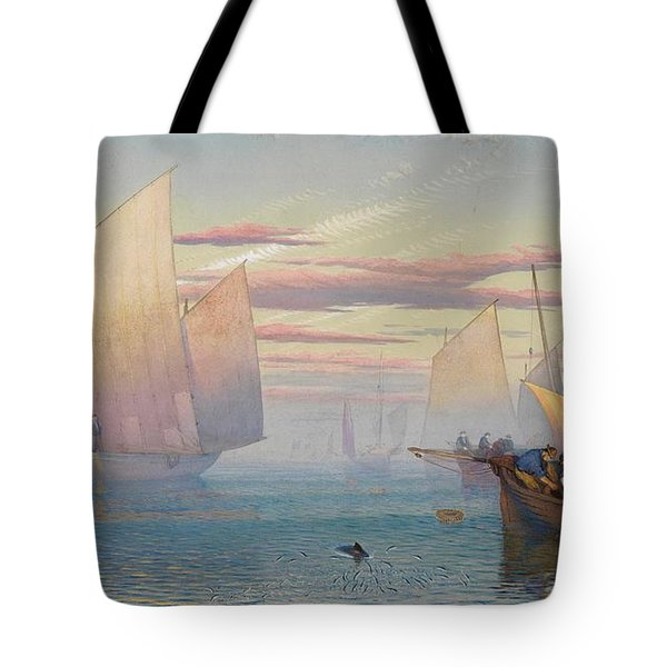 Hauling In The Nets Tote Bag by JB Pyne