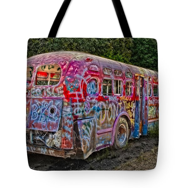 Haunted Graffiti Bus II Tote Bag by Susan Candelario
