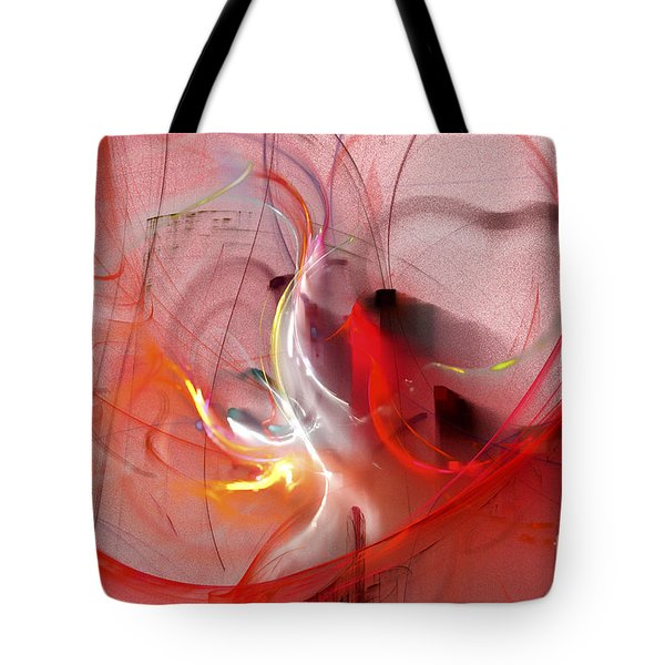 Tote Bag featuring the digital art Haunted Hearts by Victoria Harrington