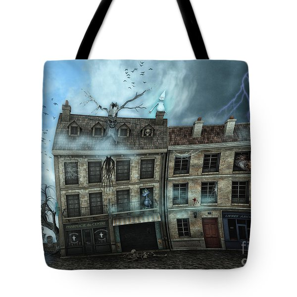 Haunted House Tote Bag by Jutta Maria Pusl