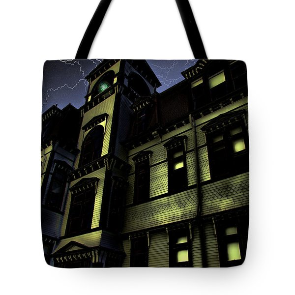 Haunted House Tote Bag by Mark Sellers