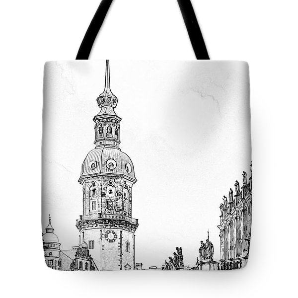 Hausmannsturm In Dresden Germany Tote Bag by Christine Till