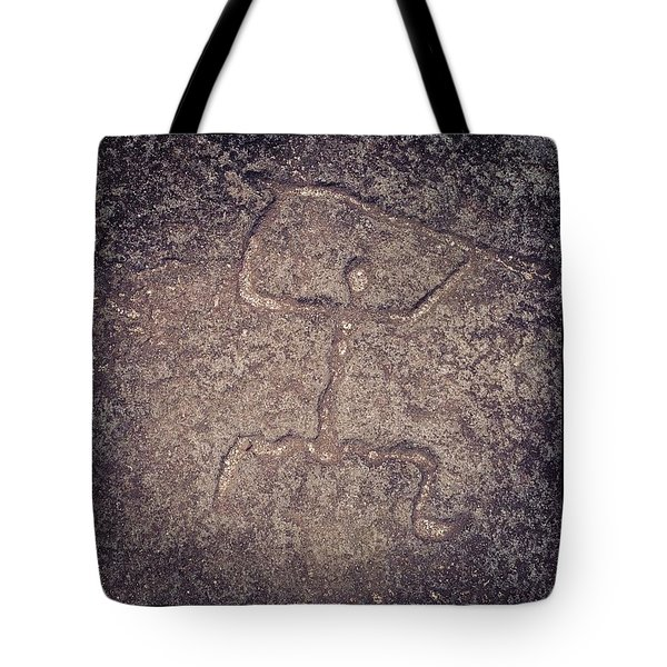 Hawaiian Petroglyph Tote Bag