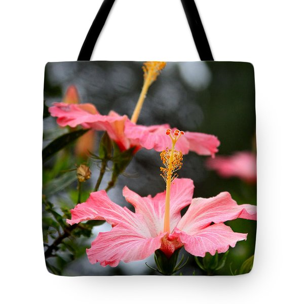 Hawaiian Pink Hibiscus Tote Bag