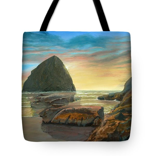 Haystack Kiwanda Sunset Tote Bag