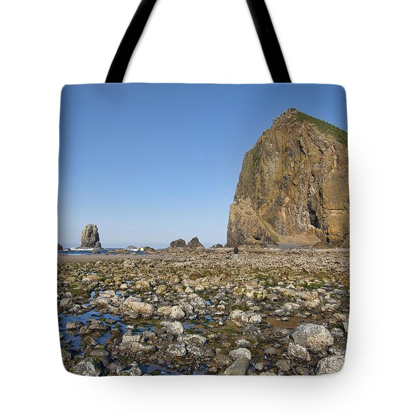 Haystack Rock 2 Tote Bag by Mauro Celotti