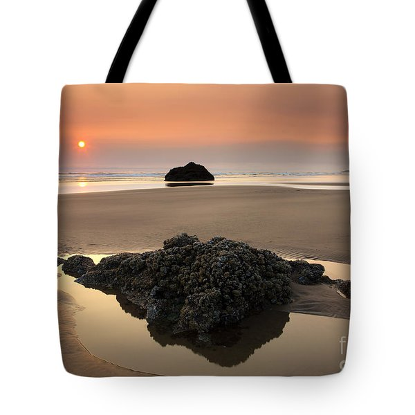 Hazy Oregon Sunset Tote Bag by Mike  Dawson