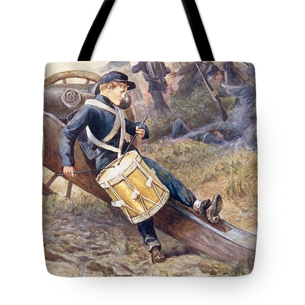 He Crawled Behind A Cannon And Pale And Paler Grew Tote Bag by William Henry Charles Groome