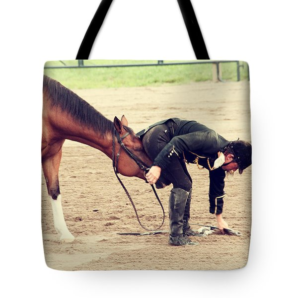 Head Butted Tote Bag by Karol Livote