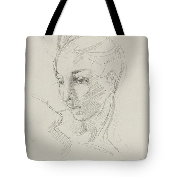 Head Of Liberty  Tote Bag by Ferdinand Victor Eugene Delacroix