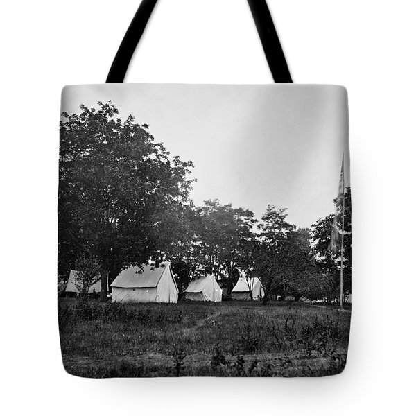Headquarters - Army Of The Potomac - Fairfax Courthouse Virginia 1863 Tote Bag by International  Images