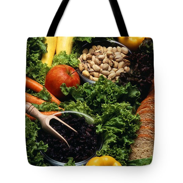Healthy Foods Tote Bag by Photo Researchers