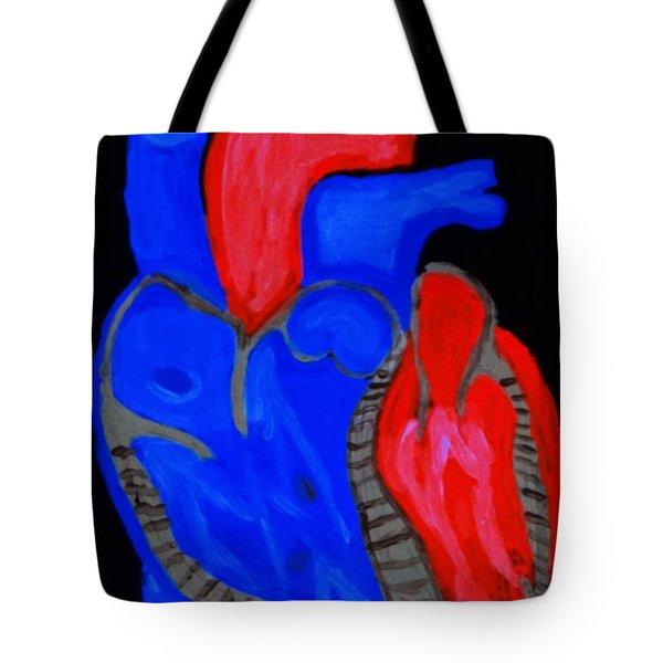 Heart A Glow Tote Bag by Lisa Brandel