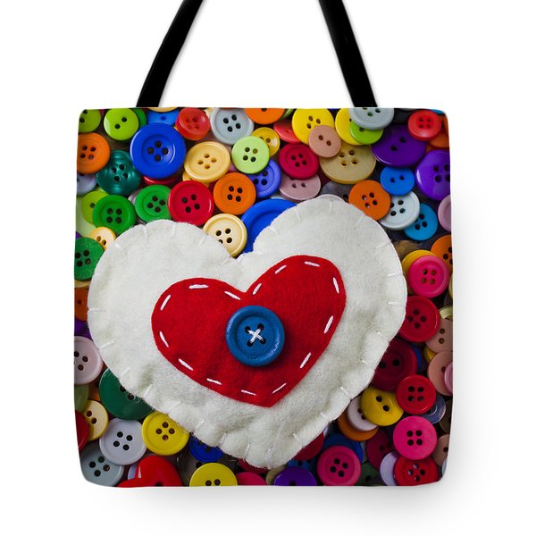 Heart Buttons Tote Bag by Garry Gay