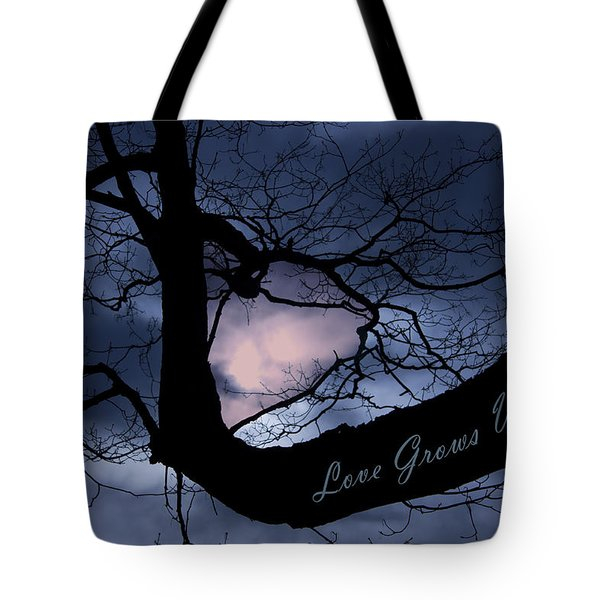 Heart In Tree Love Grows Within  Tote Bag