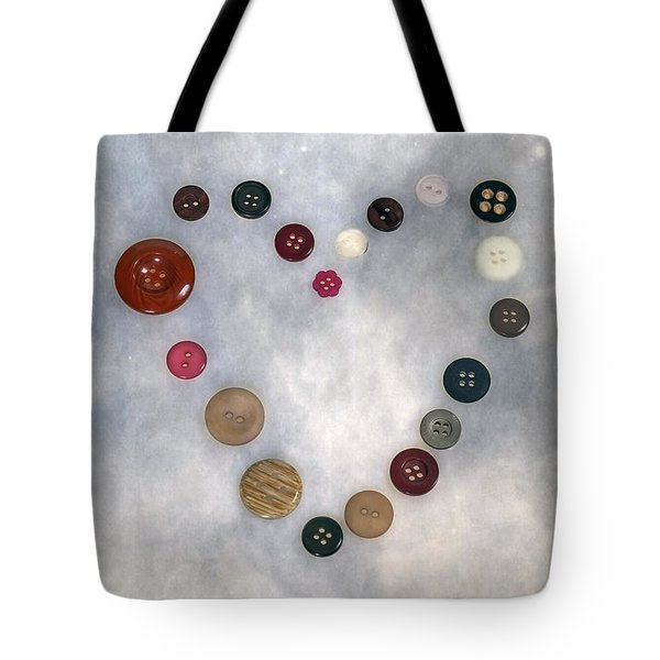 Heart Of Buttons Tote Bag by Joana Kruse