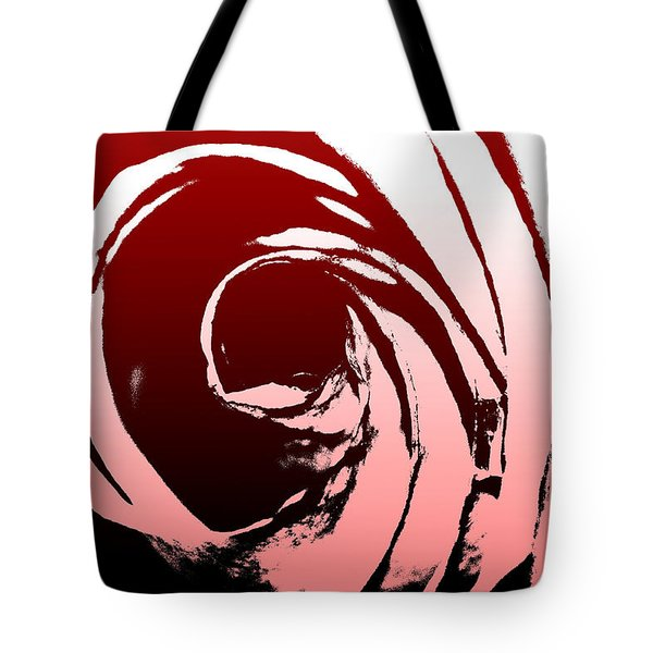 Tote Bag featuring the photograph Heart Of The Rose by Lauren Radke