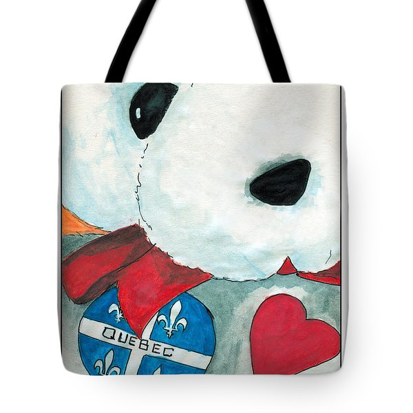 Heart Quebec Bear Tote Bag