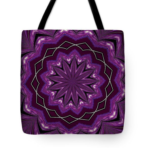 Tote Bag featuring the digital art Heather And Lace by Alec Drake
