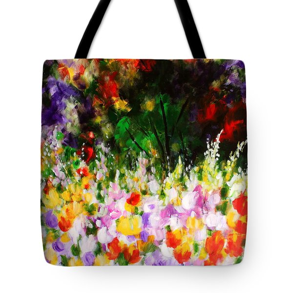 Tote Bag featuring the painting Heavenly Garden by Kume Bryant