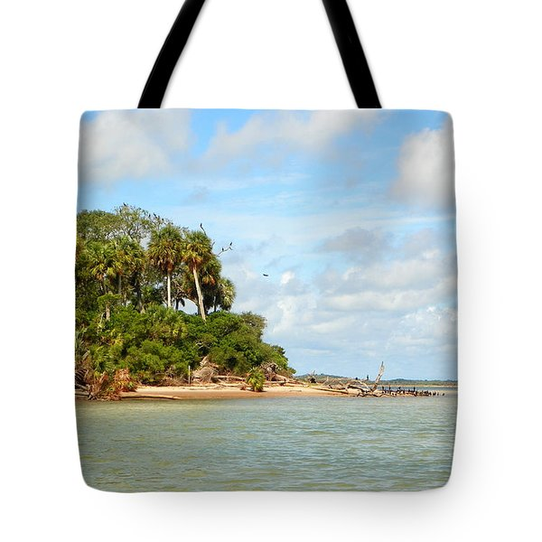 Heavenly Island View  Tote Bag